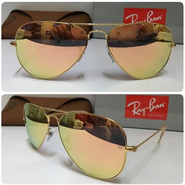 Rayban Aviator Rose Gold, Women s Fashion, Accessories on Carousell 0b110fad4b00