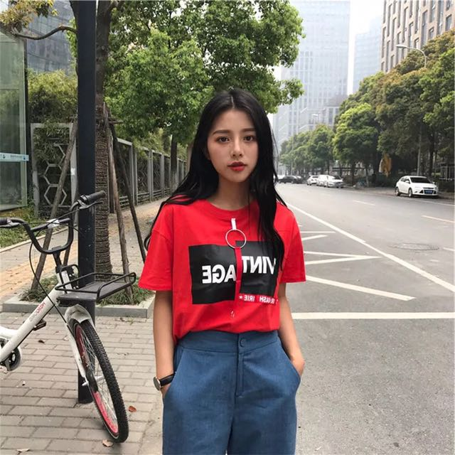 Red Korean Top