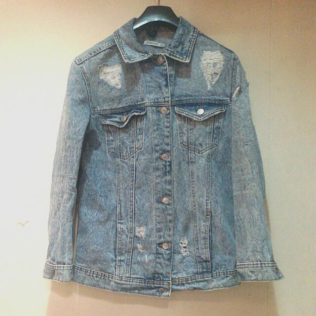 Ripped Jeans Jacket Stradivarius Ori From Store Di Kokas