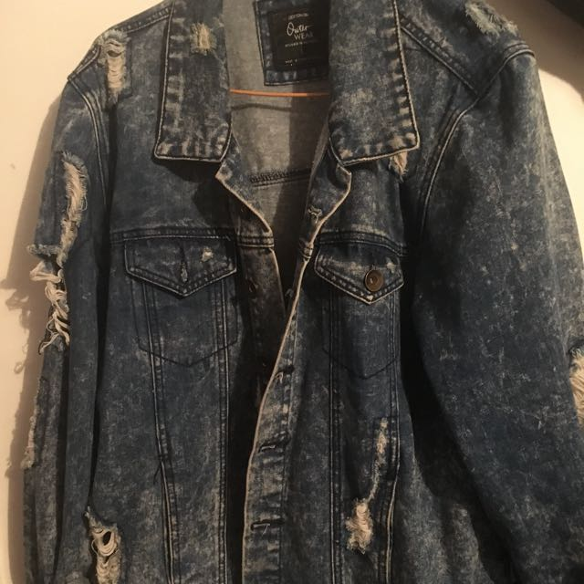 Ripped Styled Demin Jacket