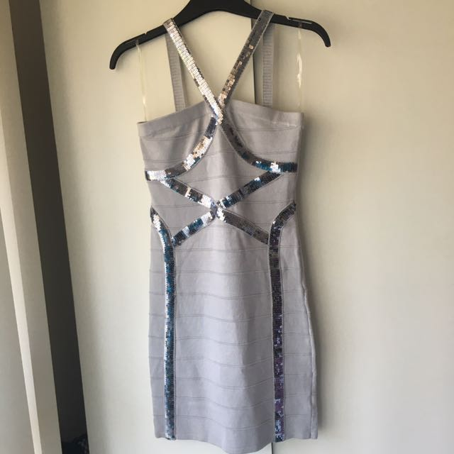 ABYSS by Abby Silver Sequin Dress