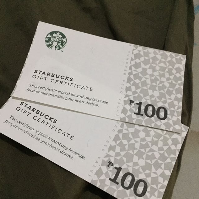 Starbucks gift certificate 100 200 ticketsvouchers gift cards photo photo photo photo colourmoves