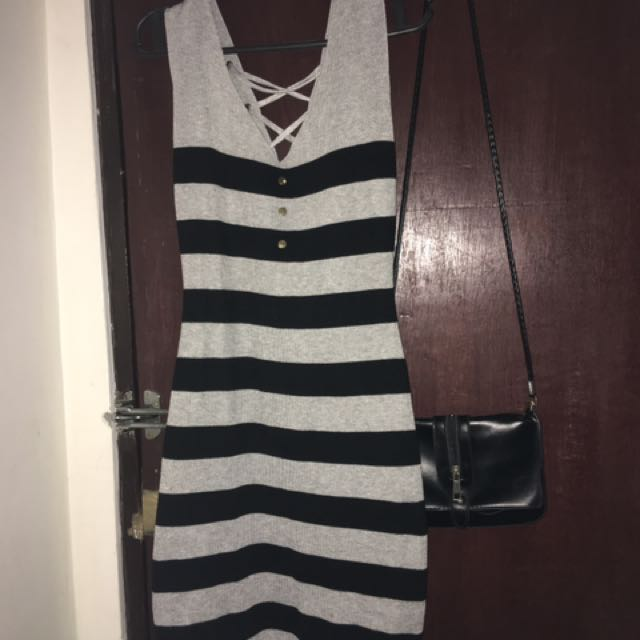 Striped Fitted Dress