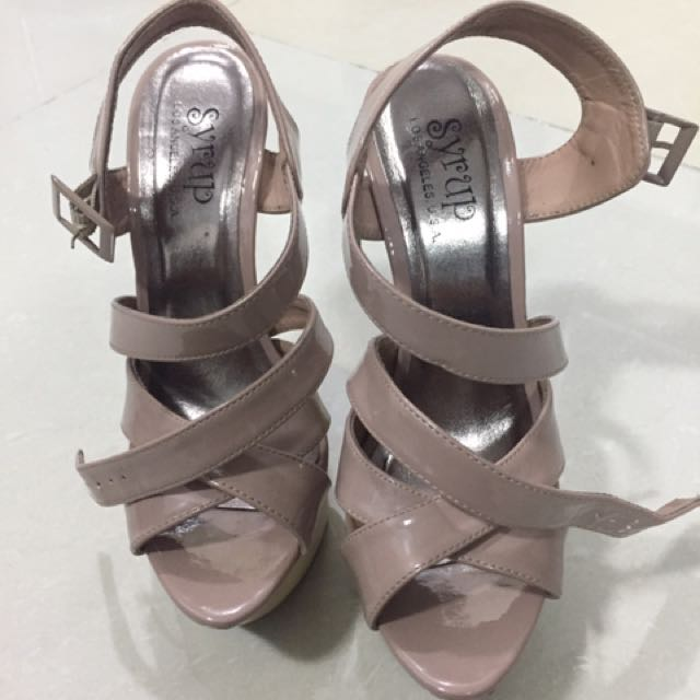 Syrup Nude Wedge Shoes