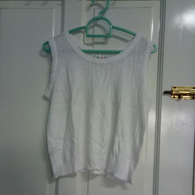 tanktop putih knit