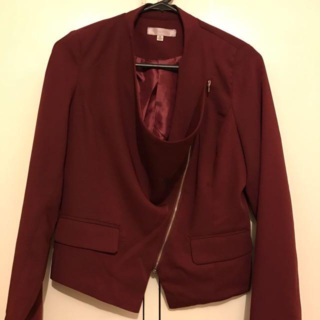 Temt Size 10 Jacket Cardigan Maroon