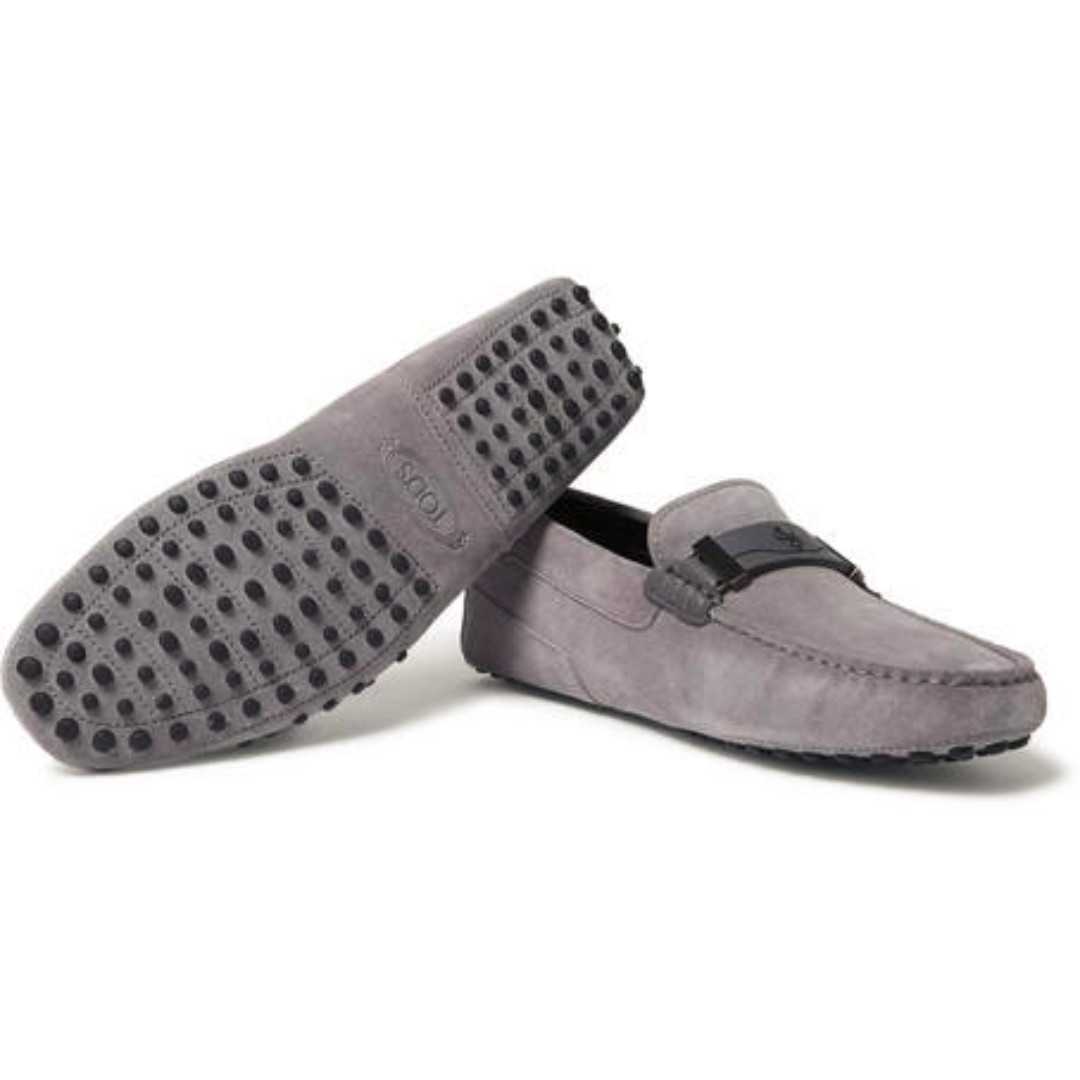8b3c8297ed2 Tod s x Ferrari grey Gommino Suede Leather Loafers  Driving Shoes ...