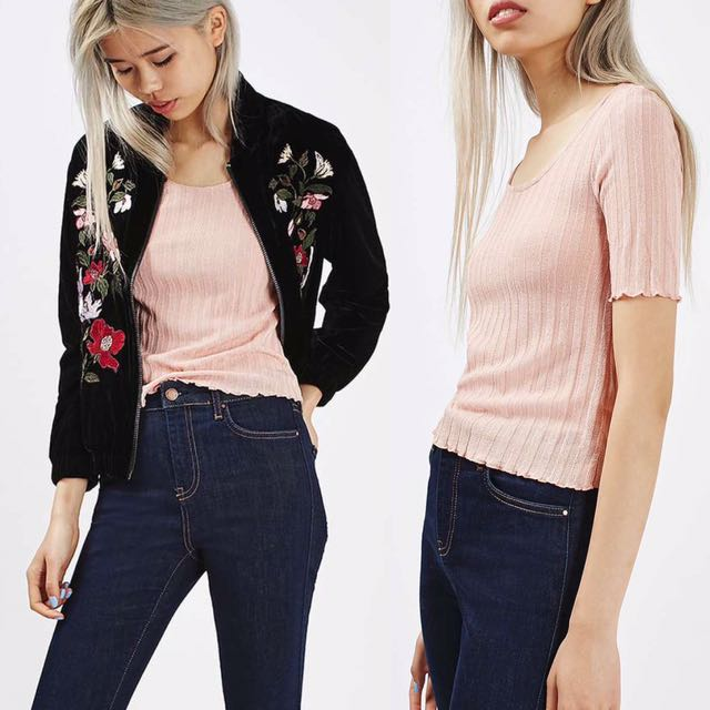 Topshop Pink Knit Top