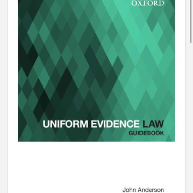 Uniform Evidence Law Guidebook - RRP $39.99