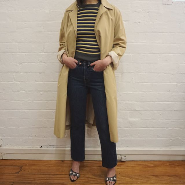 vintage Ralex of Sydney caramel trench coat with detachable lining