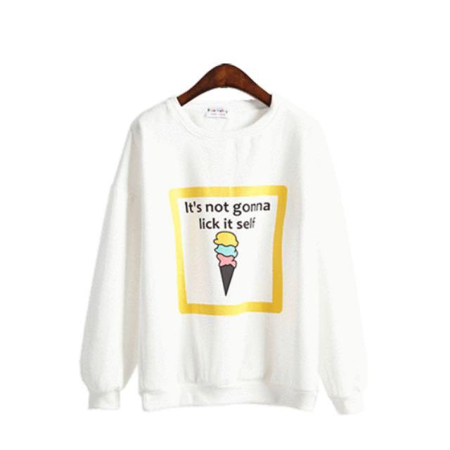 White Ice Cream Sweater 🍦