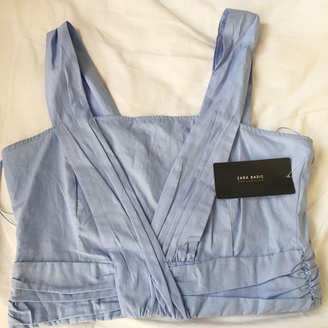 Zara Blue Bralette Top