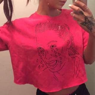 Kim Crying Crop Sweatshirt