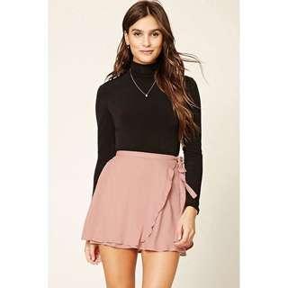 Forever21 Faux Wrap Mini Skirt