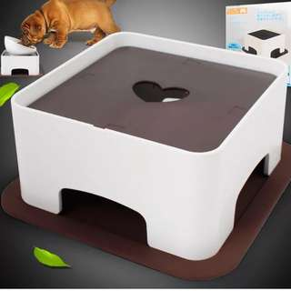 寵物餐桌 高低可調整斜口面
