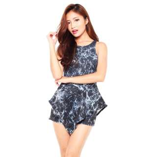 Marble Playsuit Size S