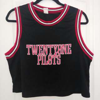 Twenty One Pilots Jersey Cropped Tank Top
