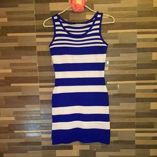 Dress Sleeveless Stripes Knitted (Apostrophe)