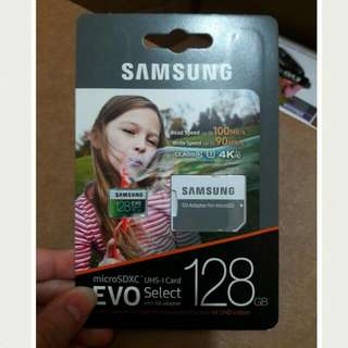 Samsung 128gb 100mbps U3 Micro Sd Evo With Adapter FREE SHIPPING MANILA
