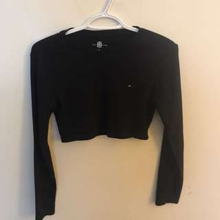 Tommy Long Sleeve Cropped Top