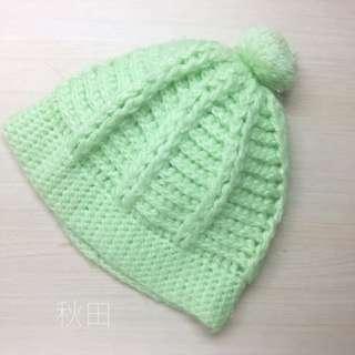 🚚 毛帽/綠色/淡螢光綠