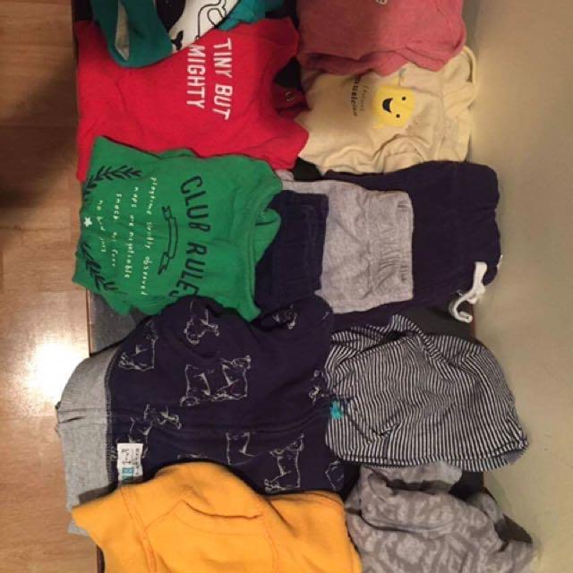 0-3 Mo Baby Boys Clothing Lot