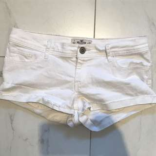 Hollister White Shorts