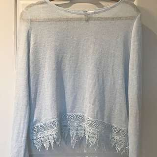 Light Blue Lace Long Sleeve