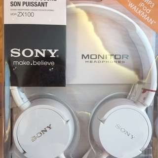 Sony white Headphones