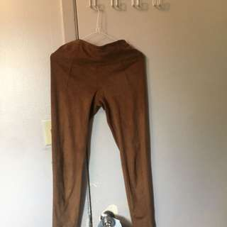 Dynimate Tan Suede Leggings