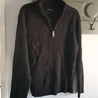 CHISEL Black Knit Jumper Size L
