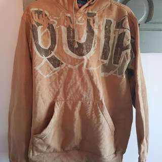 QUICKSILVER Brown Hoodie Size L