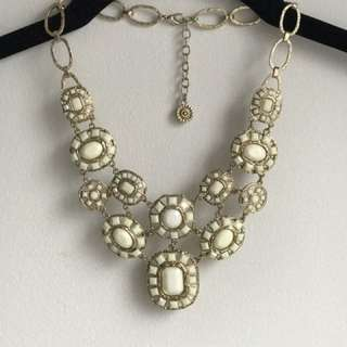 Cream And Gold Necklace