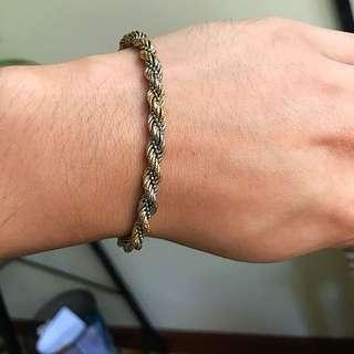 18k Tri Colors Italian Gold Chain Bracelet