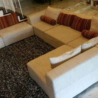 Modern Sectional Sofa Set Offering A Level Of French Design & Feeling Of Luxurious