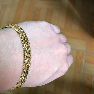 18k Unique Handmade Italian Gold Bracelet