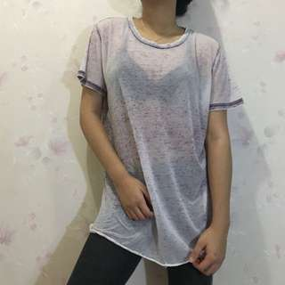 Forever21 Distressed See-through Shirt