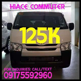 Hiace Commuter 2017..Best Deal Ever