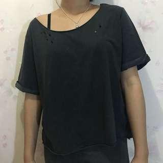H&M Distressed Shirt