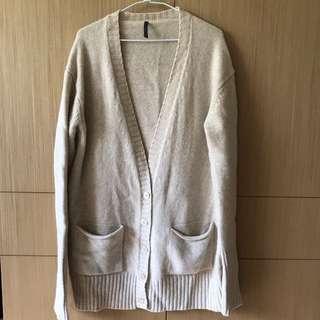 日本購回全羊毛毛衣外套