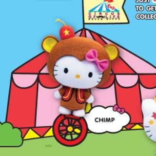 🌟全新 麥當勞 Hello Kitty Circus Of Life - Chimp