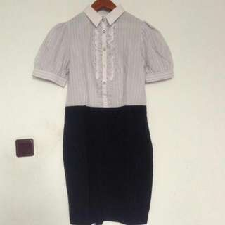 Stripes Colar Dress
