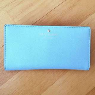 Kate Spade Stacy Wallet in Cyan Blue
