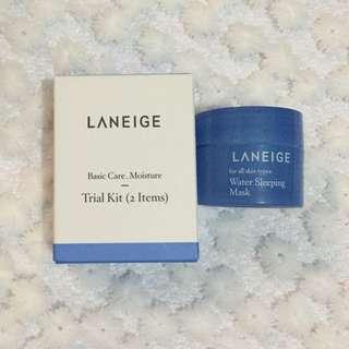 Laneige Water sleeping mask & Basic care kit