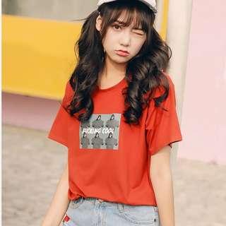 個性印花T恤p616