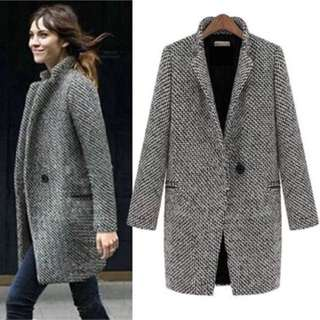 Women's Blazer Jacket Long Coat