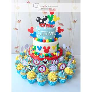 【Connie's Home Sweets】Disney Mickey Mouse Cake 生日蛋糕 滿月 百日宴蛋糕 Birthday Cake 100 Days