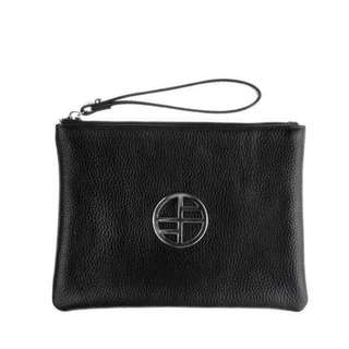 Francesca Pouch Black and silver