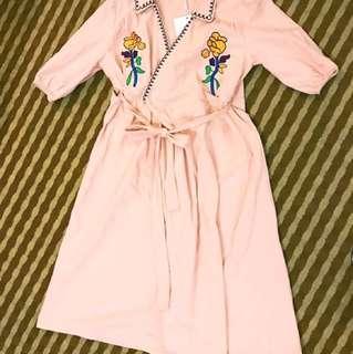歐美風衣洋裝
