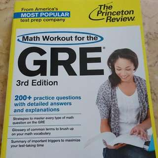 GRE Princeton Review Math Workbook